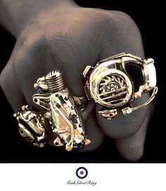 Mods collection vespa engine ring stering 925 by GeekSilverRing