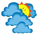 Achter de wolken schijnt de zon -- Alle nare dingen zijn tijdelijk en daarna wordt het beter.