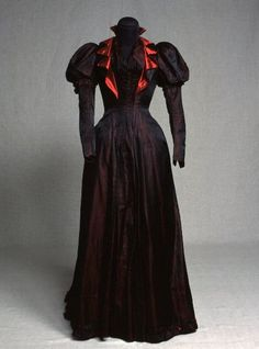 I don't wear dresses, fripperiesandfobs: Day dress, 1890's From...