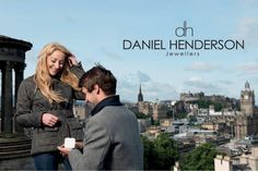 Iconic Edinburgh skyline used in our engagement adverting campaign.   www.dhjewellery.com