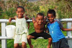 So many happy faces to greet you in #Fiji