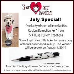 Awesome 3 of Hearts Pet Bakery raffle!! www.3ofheartspetbakery.com