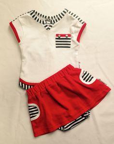 Candy Stripes Baby Girls Summer Set