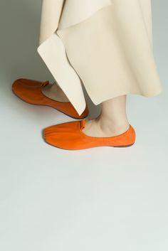 Acne Studios Allegra orange Ballerina flats