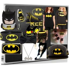 """batman"" by vickilikesrainbows on Polyvore"