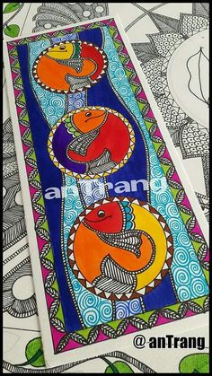 Abstract art for kids ideas artworks 41 Ideas Mural Painting, Mural Art, Fabric Painting, House Paint Design, Paint Designs, Madhubani Art, Madhubani Painting, Abstract Art For Kids, Kalamkari Painting