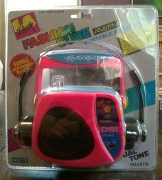 Very cool little portable radio. Brand new never opened Pink/light blue Midnight Radio, Radio Alarm Clock, Pink Light, Stereo Headphones, Rock Style, Polaroid, Ebay, Things To Sell, Light Rose