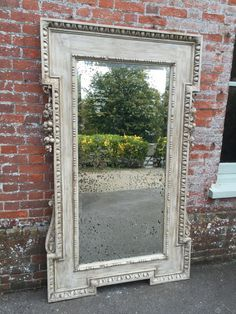 Antique All Mirrors   An Absolutely Stunning Large Antique 19th Century  Carved Wood And Gesso Painted