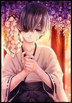 "vermeillerose: "" Manga Coloring by VermeilleRose. Original art (manga page) by Yana Toboso. """