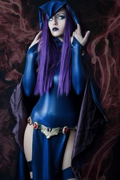 Character: Raven / From: DC Comics 'Teen Titans' / Cosplayer: Bianca Rae Cela (aka Miss Rae Crafts & Costumes, aka MissRaeCosplay)