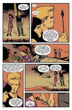 Clint and Kate Young Avengers, Marvel Avengers, Marvel Comics, Kate Bishop, Couples Cosplay, Clint Barton, Comic Panels, Jeremy Renner, Bucky Barnes