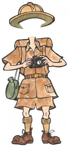 Safari/Australian outback guide get up: khaki shorts khaki shirt hiking boots camera canteen . there's lots of accessories you can use! Safari Party, Jungle Theme Parties, Jungle Party, Jungle Safari, Safari Thema, Safari Costume, Australian Party, Jungle Decorations, Library Themes