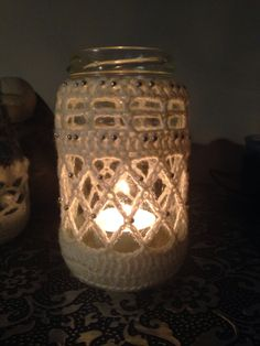 Another crochet candle jar :D