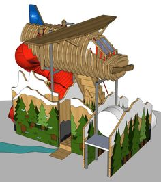 Sneak peek at BCIT's Airplane House! Airplane House, Playhouses, Fighter Jets, Challenges, Awesome, Design, Be Awesome, Design Comics, Hunting