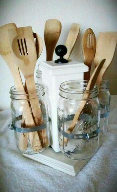 Reaproveitando potes de vidro