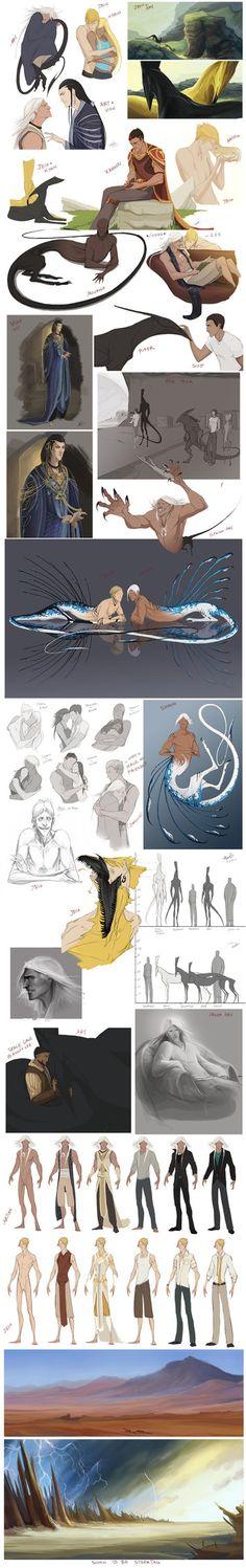 Character Sketchdump 5 by beastofoblivion on DeviantArt