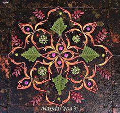 Mandala Life ART , Designed Towels   Incredible natural mandala