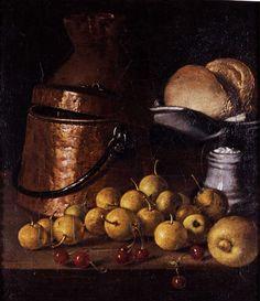 Bodegón de frutas y utensilios de cocina. Luis Meléndez. Hacia 1760-1765.