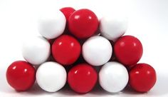 Red and White Sixlets  for pin favors