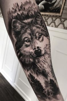 male leg tattoo ideas pectoral rib drawings shaded back thigh lion small shoulder arm closed simple calf Wolf Tattoo Forearm, Wolf Tattoo Back, Small Wolf Tattoo, Wolf Tattoo Sleeve, Wolf Sleeve, Forarm Tattoos, Forearm Tattoo Men, Leg Tattoos, Body Art Tattoos