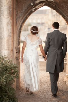 The Bishops Palace, Wells Wedding Venue | Kerry Bartlett Photography | Bride & Groom