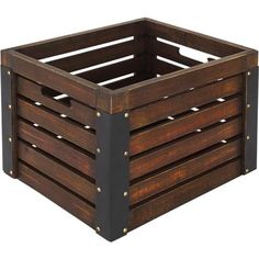 $15.88.  As seen in the garage of Design, Dining & Diapers blog.  Great to have 3 or 4 on a shelf for storage.   Better Homes and Gardens Wooden Milk Crate, Brown