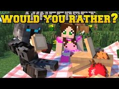 Minecraft: WOULD YOU RATHER? (MORE INSANE QUESTIONS!!) Mini-Game - YouTube
