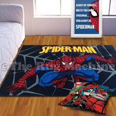 Gift Set   Marvel #superhero Spiderman Kids Fun Bedroom #set Poster #cushion