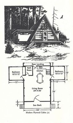 Are A-frame Cabin Kits Worth it? A Frame House Plans, Cabin House Plans, Tiny House Cabin, Tiny House Plans, Tiny House Design, Cabin Homes, Cabin Design, Small Cabin Plans, Cabins In The Woods