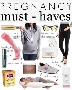 "Pregnancy must-haves for all moms-to-be! These are items that make pregnancy a happier and ""easier"" 9 months! From maternity sweatshirts to the best belly butters..."
