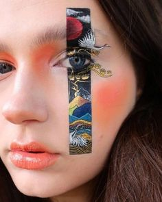 High Fashion Makeup, Edgy Makeup, Eye Makeup Art, Sfx Makeup, Crazy Makeup, Cute Makeup, Pretty Makeup, Makeup Inspo, Makeup Inspiration