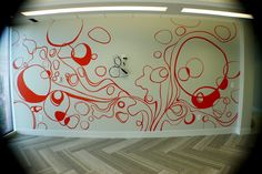 awesome mural by kristin f davis - inspiration for office, maybe