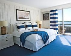 The Montauk Yacht Club on Long Island, New York...    curtains and pillows matching materials