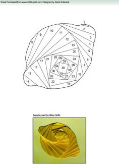 Home : Iris Folding : Various : Lemon Iris Folding Pattern