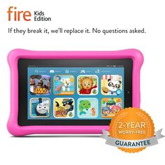 NEW Fire Kids Edition, 7 Display, Wi-Fi, 8 GB, PINK Kid-Proof Case Battery 7 HRS #Amazon