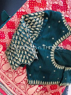 Needles n Threads, Nish*tha celebrations,Kings court avenue, Nellore Hand Work Blouse Design, Simple Blouse Designs, Stylish Blouse Design, Fancy Blouse Designs, Bridal Blouse Designs, Blouse Neck Designs, Embroidery Fashion, Sarees, Lehenga