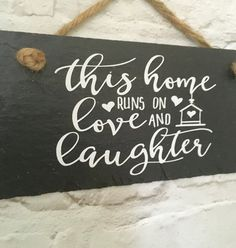 Family quote. Family love . Family slate sign. by LilybelsUK