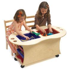 Wow, This Is So Cool... Wooden Sand/water Table With Plastic