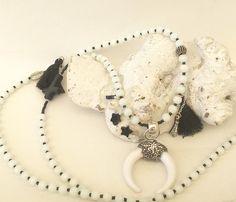 Ketten lang - lange Kette, weiße Jade und mehr... - ein Designerstück von moanda bei DaWanda