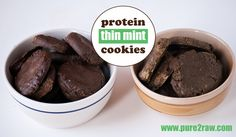 Protein Thin Mint Cookies  - a few different variations to the recipe - THE BEST COOKIES!!