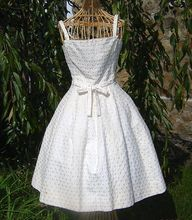 Vintage 1950's Rare Designer Party Dress ala Dior's New Look    Oh why can't I be thinner? It's my perfect dress!