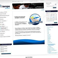 Navegue e Concorra - Campanha motivacional de lançamento da nova Intranet da Tempo Assist