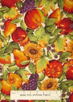 Robert Kaufman Shades of The Season Harvest Fruit Cream Bkgd Cotton Fabric Yard | eBay (colour, light/shadow inspiration....)