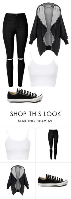 """Untitled #405"" by rose-tyler-i-doctorwho ❤ liked on Polyvore featuring Topshop, Converse, women's clothing, women, female, woman, misses and juniors"