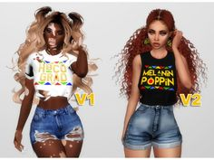 sims 4 cc // custom content clothing // BLACK GIRL TEES by hbcu-black-girl // melanin tees Sims Four, Sims 4 Mm, Sims 4 Challenges, Sims 4 Cc Folder, The Sims 4 Skin, Sims 4 Traits, Sims 4 Black Hair, Sims 4 Game Mods, Sims 4 Characters