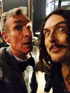 Met weird Al. He is all that-- weird man-- weird...