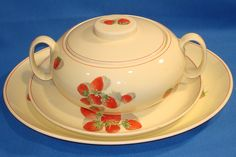 strawberry ws george    STRAWBERRY SHORTCAKE CAVITT-SHAW W.S. GEORGE 114A PLATTER PLATE SOUP ...