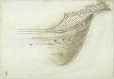 Pisanello, Prow of a Ship, mid 15C. Codex Vallardi 2287 v. Louvre, Paris.