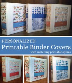 Printable Binder Covers & Spines {Make your own home management binder, recipe binder, etc.... and make it pretty!}