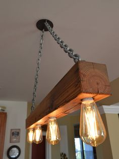 Old Crow Whiskey reclaimed wood light by BluedogFabrications